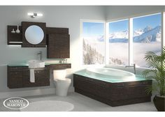 Love Vanico Maronyx... Eclypse - Collection extends counter over toilet, with drawer!