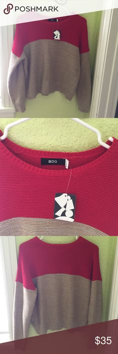 Urban outfitters/bdg block sweater. Never worn, super cozy. Urban Outfitters Sweaters