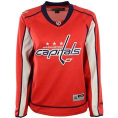 cd99bcbbd Reebok Women s Washington Capitals Premier Jersey ( 110) ❤ liked on  Polyvore featuring red and