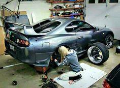 Car and Girl Toyota Supra Mk4, Toyota Cars, E36 Cabrio, Drifting Cars, Tuner Cars, Japan Cars, Subaru Wrx, Fast Cars, Sport Cars