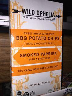 ... & hickory BBQ potato chips dark chocolate bar with smoked paprika