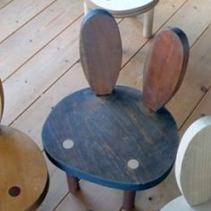 Adorable bunny chairs handmade in japan.