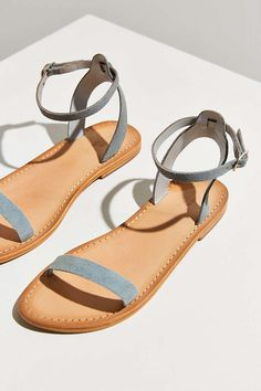 Hazel Suede Thin Strap Sandal - Urban Outfitters