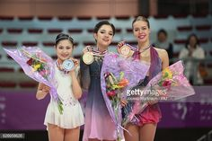 Satoko Miyahara of Japan, Evgenia Medvedeva and...
