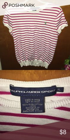 POLO Ralph Lauren Tee Great condition! Striped polo shirt. Polo by Ralph Lauren Tops Tees - Short Sleeve