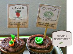 Fresh from the Garden Party: cupcakes