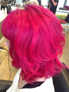 I just love pink hair.