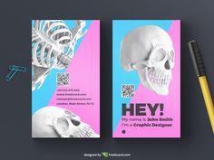 Creative skull business card template - Freebcard
