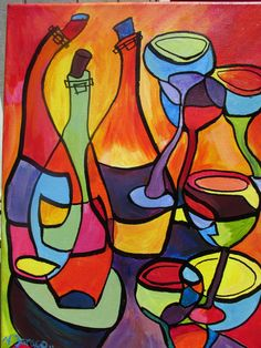 """Abstract Wine"" Artist: Virginia Faraco"