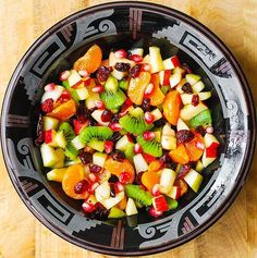 Winter Fruit Salad with Maple-Lime Dressing Recipe on Yummly. @yummly #recipe