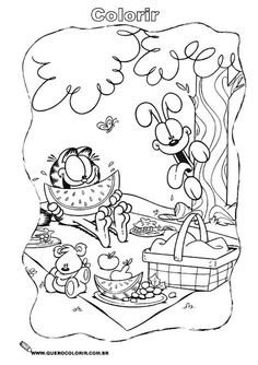 Garfield And Friends Coloring Pages PIcture 3 Picture