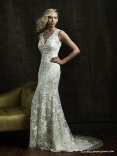 Allure Bridals 8800 Vintage Lace Wedding Dress. Really gorgeous.