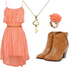 """Just Peachy"" by daddys-rose on Polyvore"