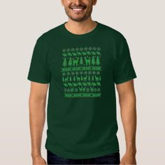 "Green Alpaca ""Ugly Christmas Sweater"" T-Shirt"