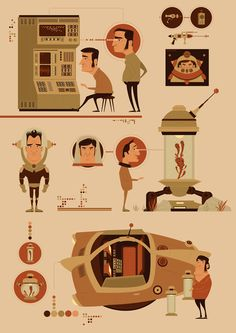 illustration/Space-Gear by JAMES GILLEARD