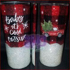 Vinyl Tumblers, Personalized Tumblers, Custom Tumblers, Personalized Items, Christmas Tumblers, Christmas Cup, Christmas Crafts, Christmas Dishes, Glitter Cups