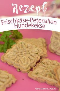 Recipe: Cream cheese parsley biscuits for dogs - Hunde - Perros Easy Dog Treat Recipes, Easy Whole 30 Recipes, Healthy Dog Treats, Dog Food Recipes, Homemade Dog Cookies, Homemade Dog Food, Whole30 Recipes Lunch, Diy Pet, Diy Snacks