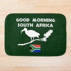 'South Africa Hadeda Funny Alarm' Bath Mat by Funny Alarms, Beautiful Places To Visit, Super Funny, South Africa, Bath Mat, Afrikaans, Printed, Rugby, Mornings