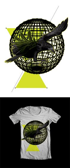 Geo Crow by Erik Arthur Jacobs, via Behance