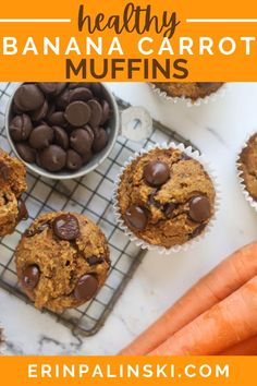 These banana carrot muffins are super easy to make, ready in less than 30 minutes, and only contain 18 carbs with 3 grams of protein! An easy breakfast recipe for kids and adults!