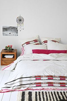 Bohem Hand-Block Ikat Stripes Duvet Cover - Urban Outfitters
