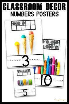 Need vibrant numbers posters for your classroom? Grab and print these numbers posters classroom decor perfect for preschool and kindergarten. Classroom Board, Classroom Setup, Google Classroom, Bulletin Board, Class Board Decoration, Word Family Activities, Classroom Decor Themes, Shabby, Wall Signs