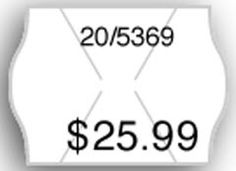 Meto 2-Line Pricing Labels, Roll, White. Price it quick and easy! Tamper-resistant labels help you clearly mark everything in your store. Use top line for product or department codes, bottom line for pricing.  • Size: 13/16 X 5/8 • Tamper-proof! Tamper-proof slits on pricing labels • Compatibility: Use with Meto 2-line pricing guns • Tamper-proof! 58# Litho tamper-proof Stock • Permanent adhesive: These labels stick to almost any surface for permanent adhesion • Quantity: 1,000 labels per…