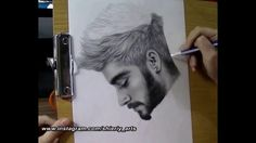 Realism Portrait Drawing Of Zayn Malik