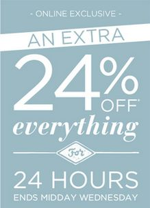 Get 24% off at BHS for 24 hours + use code TWENTYFOURDEL15 for free delivery on £15 spend