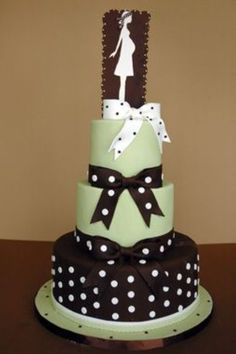 Chic Baby Shower Cake