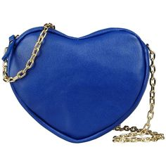George J. Love Handbags (€25) ❤ liked on Polyvore featuring bags, handbags, purses, borse, clutches, blue, metallic handbags, blue leather handbag, blue leather purse and genuine leather handbags