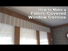 ▶ How to Make a Fabric-Covered Window Cornice - YouTube