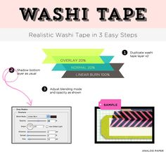Shadow Tips from Maria--How to make digital washi tape look realistic.
