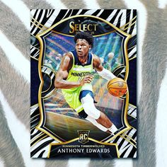 """Panini America on Instagram: """"If you could hunt only one . . . 🦓 or . . . ⬅️ 🐅? @paniniamerica's 2020-21 Select @nba Basketball is coming. #whodoyoucollect #nba…"""" Basketball Cards, Nba Basketball, Anthony Edwards, Minnesota Timberwolves, The Selection, America, Baseball, Instagram"""