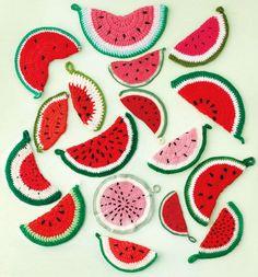 Crochet Watermelon Pot Holders