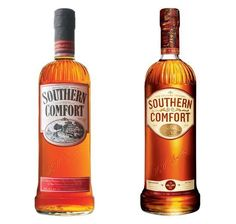 Before and After of Southern Comfort bottle redesign Southern Comfort Drinks, Damaged People Are Dangerous, Distilled Beverage, Frat Coolers, Alcohol Content, Grand Marnier, Schnapps, Liqueurs, Alcoholic Drinks