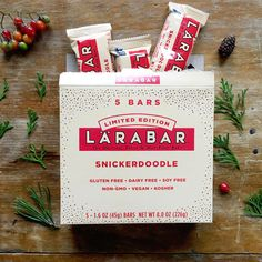 Snickerdoodle Larabars are delicious 6-ingredient bars made with just fruits, nuts & spices. These gluten-free treats are great in a lunch box or a snack to stash in the car or office. They are vegan, soy free, non-GMO, and kosher snacks out for a limited time only.