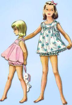 Original Vintage McCalls Pattern 4019 Little Girls Shortie Pajamas Size 12 Source by Pajamas Sewing Patterns For Kids, Mccalls Patterns, Vintage Sewing Patterns, Clothing Patterns, Mode Vintage, Vintage Girls, Vintage Dresses, Vintage Outfits, Toddler Pajamas