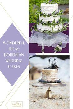 Bohemian wedding cak