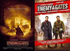 How did ENEMY AT THE GATES go from this great poster to such half-assed direct-to-videoesque DVD art?