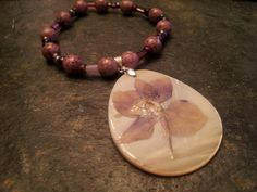 Lavender flower bracelet by coriesutton on Etsy, $11.00