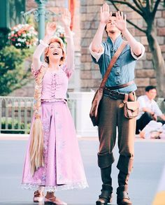 Flynn & Rapunzel...what are they doing???