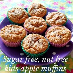 Sugar-free and nut-free kids apple muffins - perfect little lunch box snacks - Mrs D plus 3
