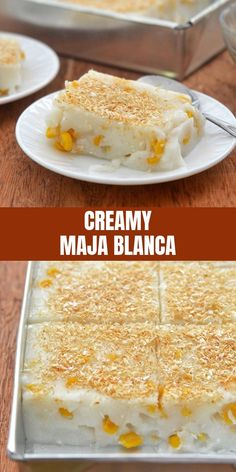 Maja Blanca made with coconut milk, sweet corn kernels, and toasted coconut. Rich and creamy, this coconut pudding makes a delicious snack or dessert. Best Picture For Filipino desserts maja blanca Fo Philipinische Desserts, Asian Desserts, Delicious Desserts, Sweet Desserts, Pinoy Dessert, Filipino Desserts, Filipino Food, Easy Filipino Recipes, Cuban Recipes