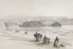 Isle of Graia, Gulf of Akabah   LACMA Collections, David Roberts