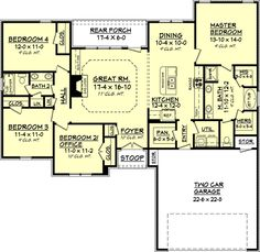 Easy barndominium floor plans are great for rural landowners who wish to design their own barndominium home. Popular Ideas The Barndominium Floor Plans & Cost to Build It House Plans One Story, One Story Homes, New House Plans, Dream House Plans, Story House, House Floor Plans, Square House Plans, The Plan, How To Plan