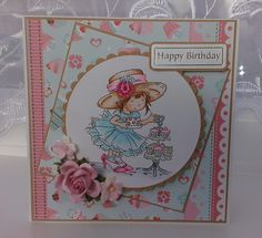 Handmade card using Lili of the valley stamps and spellbinders dies
