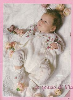 schemi di abitini per neonato, crochet e ai ferri