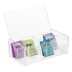8-Compartment Acrylic Tea Box | The Container Store