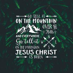 Christelijke Kerstkaarten - Go tell it on the mountain Jesus Christ is born